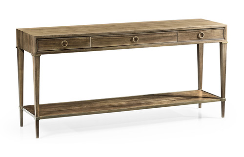 Hamilton Golden Amber Console Table with Three Drawers