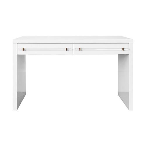 Ralph glossy white lacquer desk