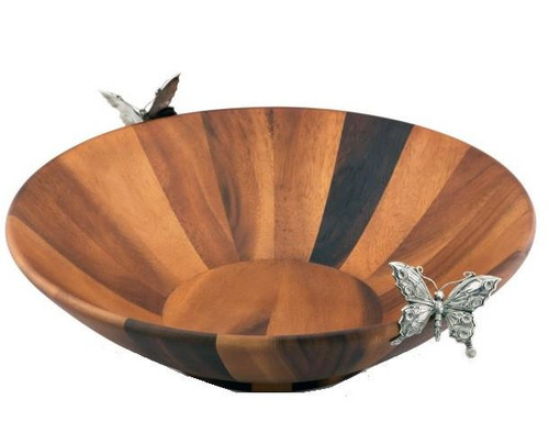 Butterfly Salad Bowl and Servers