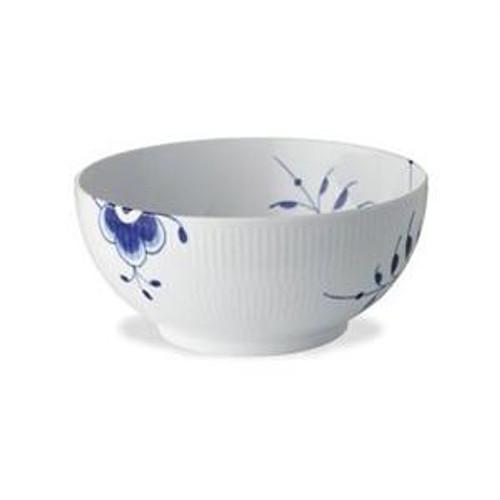 """Blue Fluted Mega 8"""" Medium Bowl"""