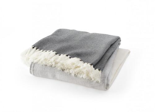 Palermo Wool Throw | Grey