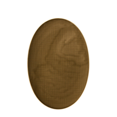 Platter flat oval, 15 inch | Mesh Walnut