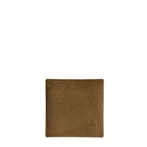 Plate flat square, 12 1/4 inch   Mesh Walnut