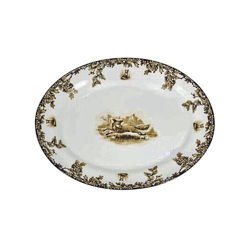 C.E. Corey Aiken Fox Medium Oval Platter