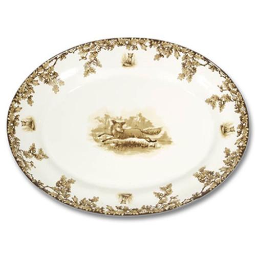 C.E. Corey Aiken Fox Large Oval Platter