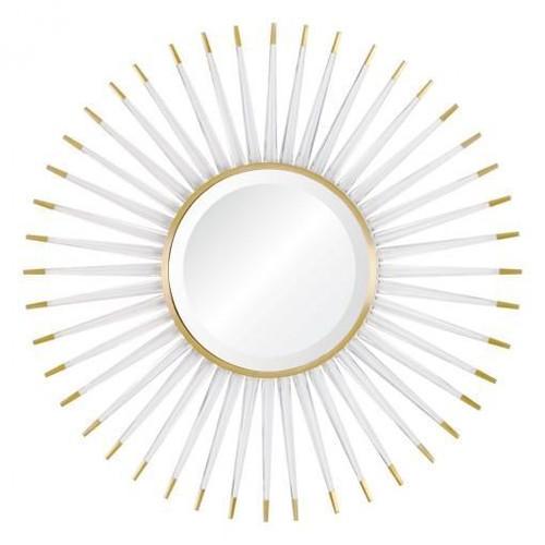 Acrylic & Brass Starburst Mirror