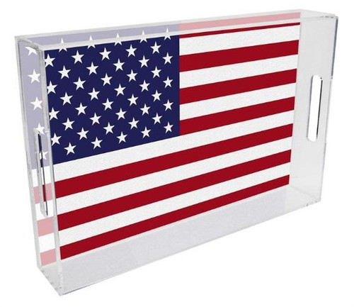 American Flag  Lucite Tray