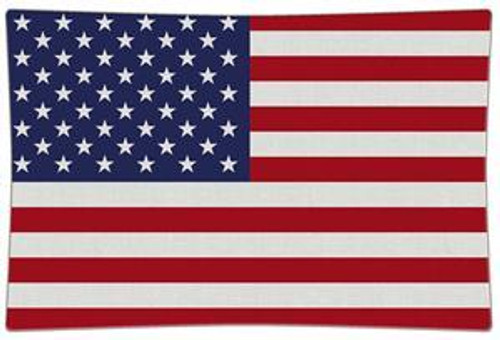 American Flag Decoupage Plate   7 sizes