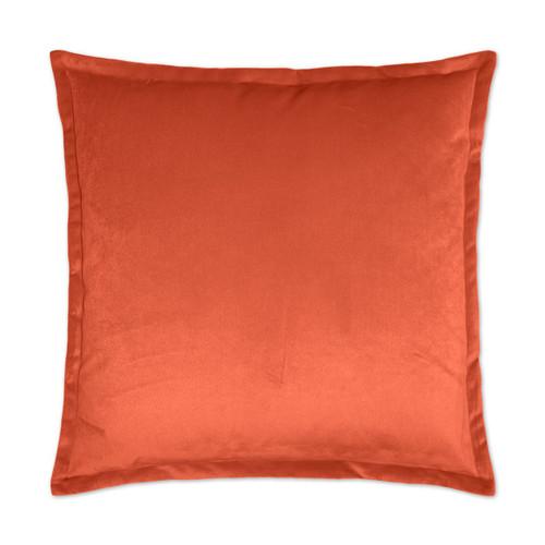 Belvedere Flange Velvet Pillow -Mango