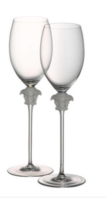 Versace Medusa Lumiere White Wine Glasses S/2
