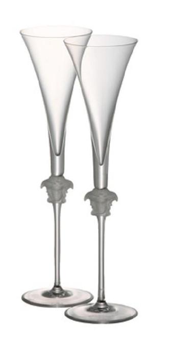 Versace  Lumier Medusae Champagne Flutes-Set of 2