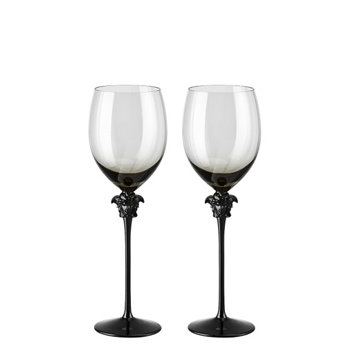 Water Goblet, set of two, 11 1/2 inch, 16 ounce   Medusa Lumiere Haze