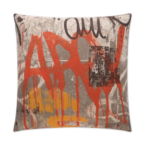 Tag-Orange Pillow