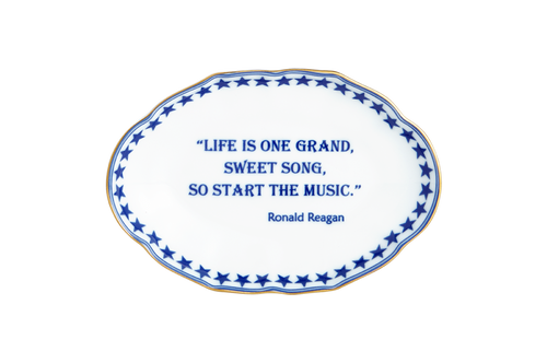 Life is one grand sweet song (Ronald Reagan)