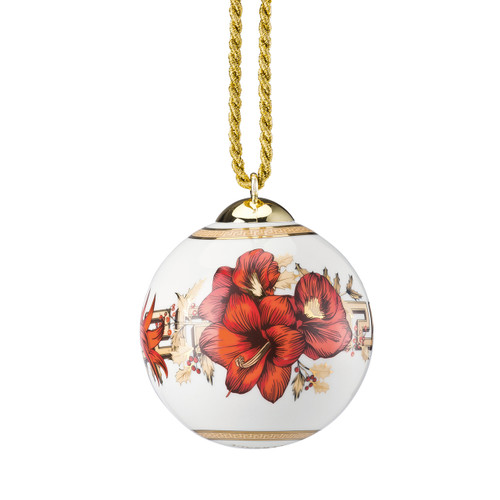 Globe Ornament, 3 inch   Christmas Blooms