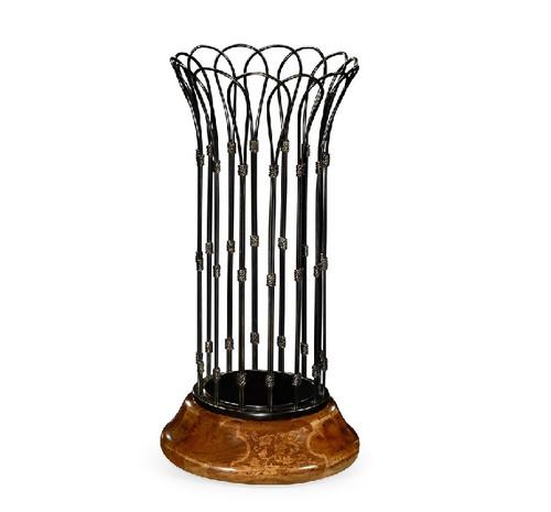 Rossett Antique Black Brass Stick Stand