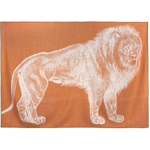 Lion Throw - Rust
