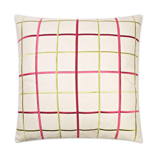 Gateway Linen Pillow -Raspberry
