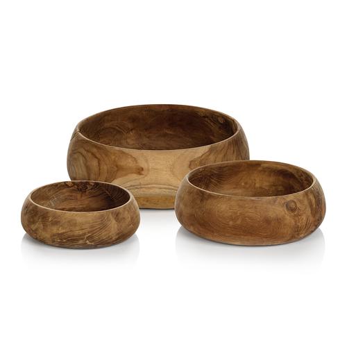 Bali Set of 3 Teak Root Bowls by Zodax