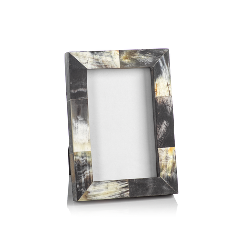African Black Horn Inlaid Photo Frame - 4x6