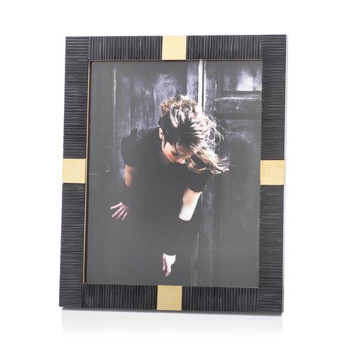 Maha Black Bone with Brass Trim Photo Frame - 8x10