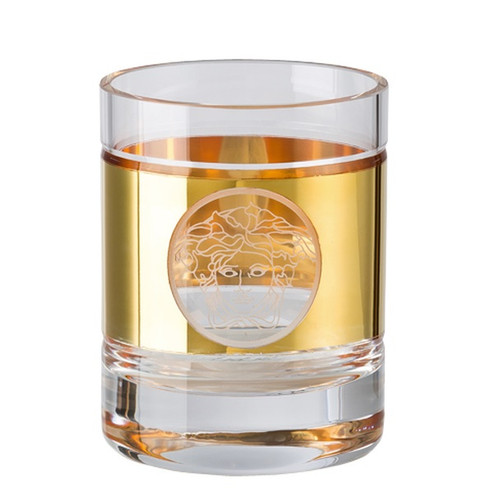 Whisky tumbler, round   Medusa Madness Oro by Versace