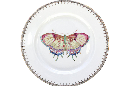 Golden Tear Drop Butterfly Dessert Plate