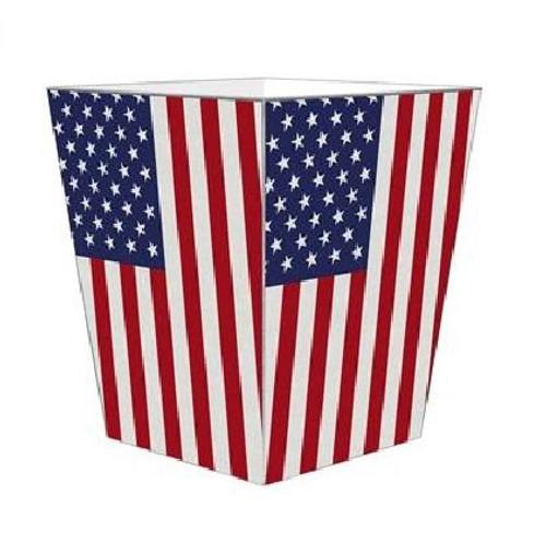American Flag Wastepaper Basket