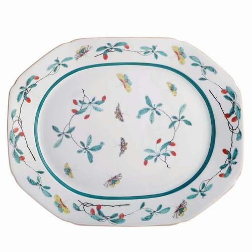 Mottahedeh Famille Verte Rim Octagonal Platter