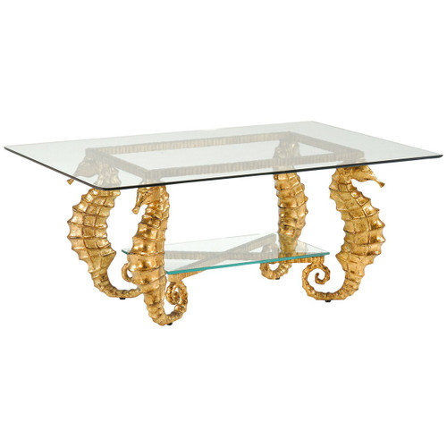 Seahorse Coffee Table   Gold