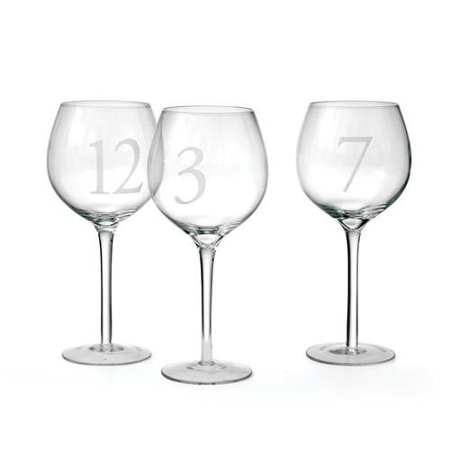 Numerology Wine Glass Set