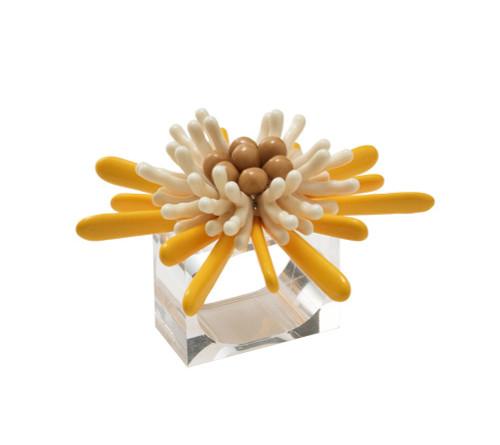 Capri Napkin Ring   Yellow and White