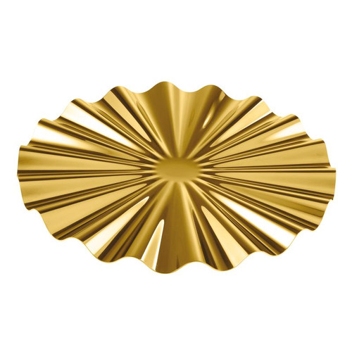 Kyma PVD Gold Show Plate, 12 1/4 x 5/8 inch