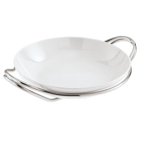 New Living Mirror / Porcelain Round rice dish set, 14 1/4 x 3 1/2 inch