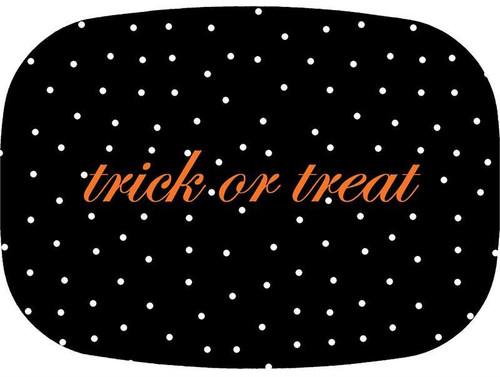 Black Halloween Dot Melamine Plate/ Platter