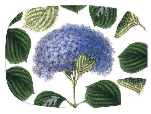 Hydrangea with Leaves Personalized Melamine Plate/ Platter