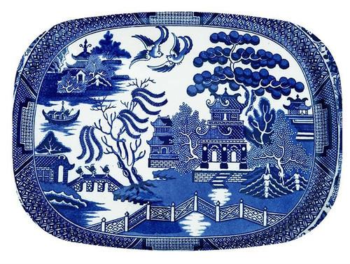 Blue Willow Melamine Platter