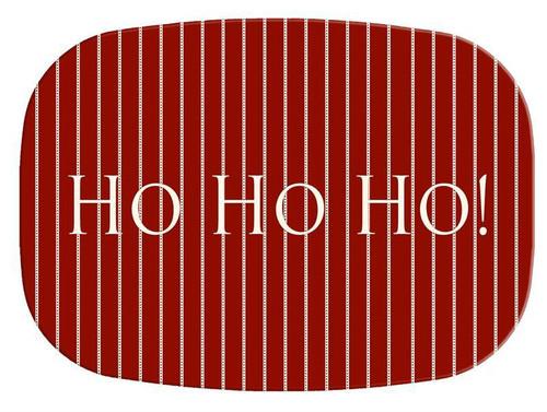 Avery Red HoHoHo Melamine Plate/ Platter