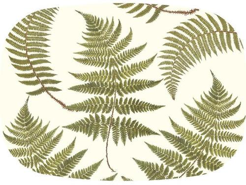 Ferns on Creme Melamine Plate/ Platter