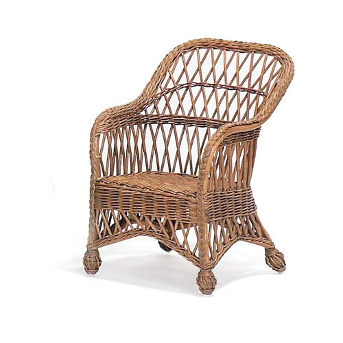 Child's Lemonade Wicker Chair
