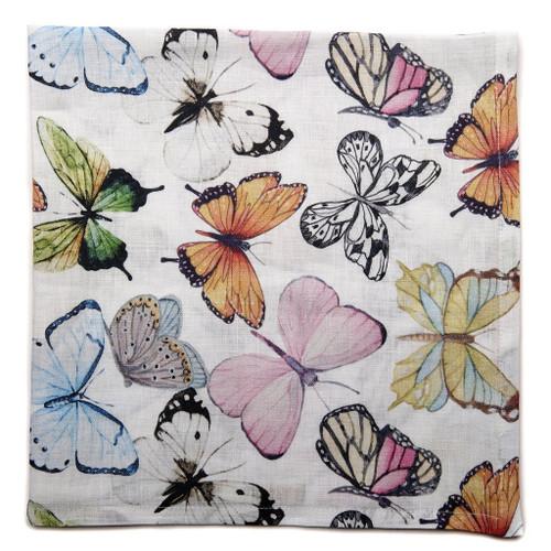 Pastel Butterflies Printed Napkin S/4