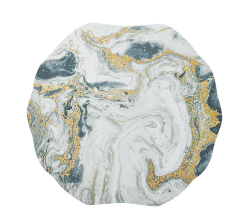 Cosmos Placemats S/4 in Ivory, Gold and Silver