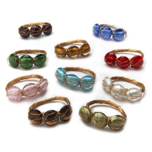Glass Coin Bar Napkin Ring