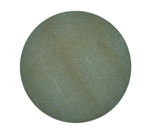 Shagreen Placemat   Sage S/4