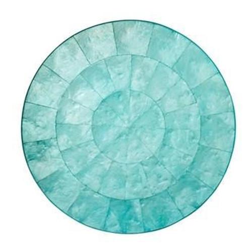 Round Capiz Placemats S/4   Ocean