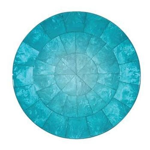 Round Ombre Capiz Placemats S/4   Azure