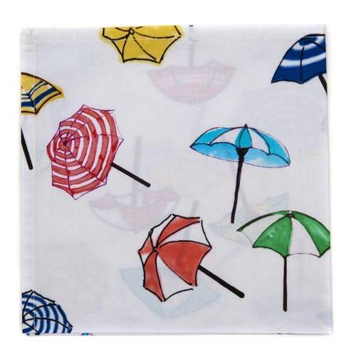 Printed Cotton Napkin - S/4 Umbrella Print