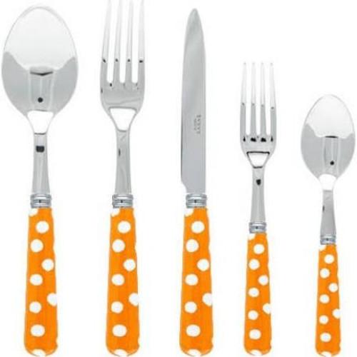Sabre Dots Orange Flatware