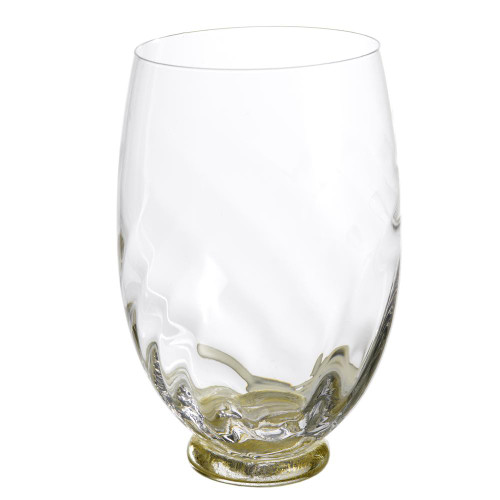 Elisa Water, Clear with Gold, Set of 4
