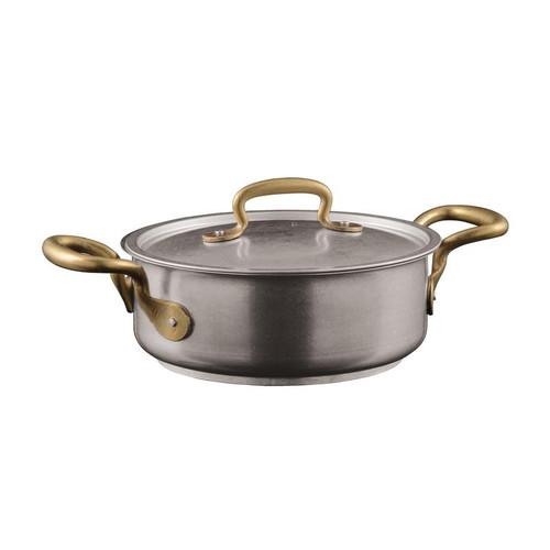 Sambonet Casserole Pot with Lid, 2 handles, 7.88 inch